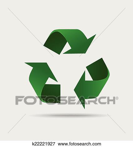 Clip Art Of Recycle Symbol Vector Symbol On The Packaging Vector