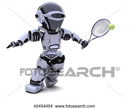 robot tennis