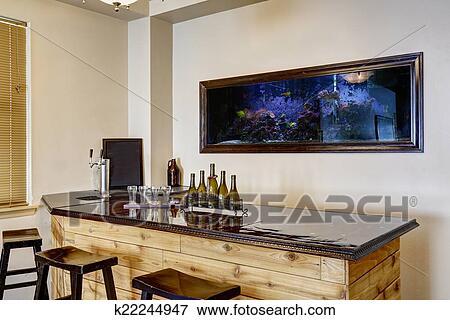 Image Barre A Aquarium Maison Luxe Interieur K22244947