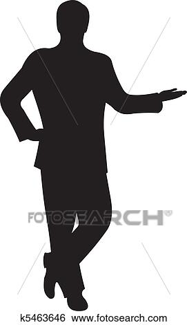 clip art of businessman silhouette vector k5463646 search clipart