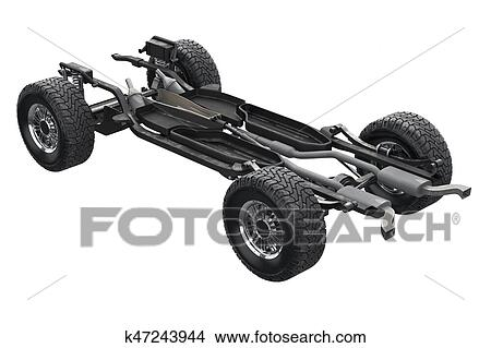 Drawings of Chassis frame suspension k47243944 - Search Clip Art ...