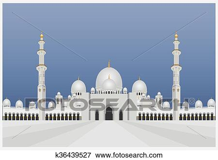 clip art of city buildings graphic template uae mosque k36439527