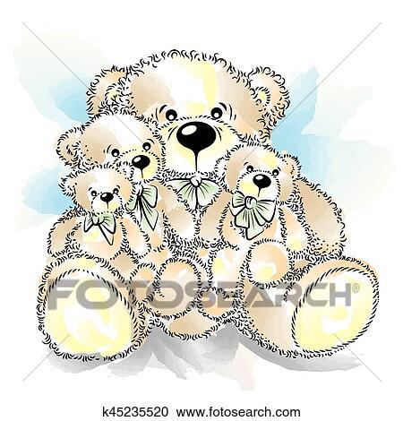 Clipart Disegno Orsi Teddy Con Arco K45235520 Cerca Clipart