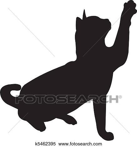 Clipart gatto vettore k5462395 cerca clipart for Gatto clipart
