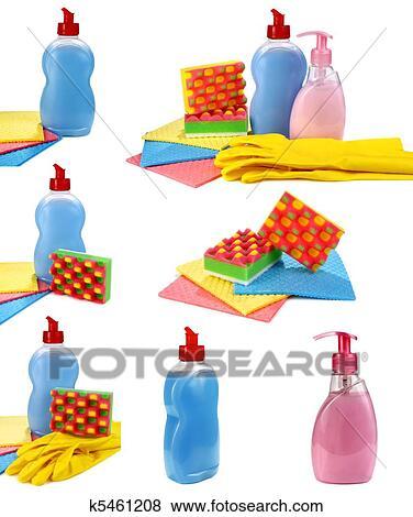 Bilder Gegenstande Fur Wasche Und Aufraumen Auf A Kueche