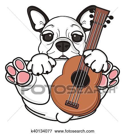 arquivos de ilustração branca buldogue francês filhote cachorro