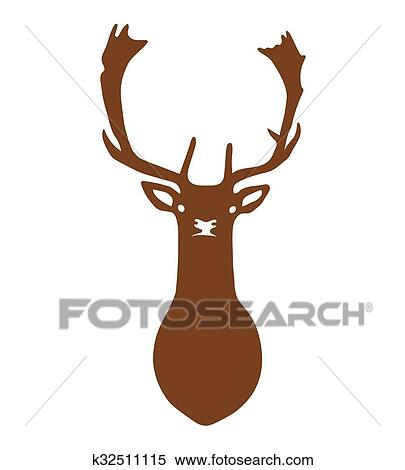 Dog Deer Drawing Clip Art - Heart - Large Head Transparent PNG