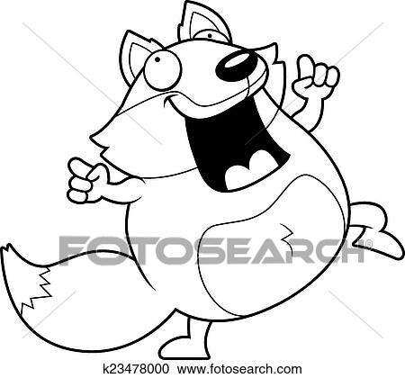 Clipart Of Cartoon Fox Dancing K23478000
