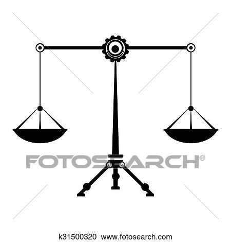 Clipart Legge Equilibrio Simbolo Giustizia Scale Zodiaco