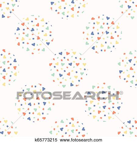 love heart confetti polka dot vector pattern clipart k65773215 fotosearch fotosearch
