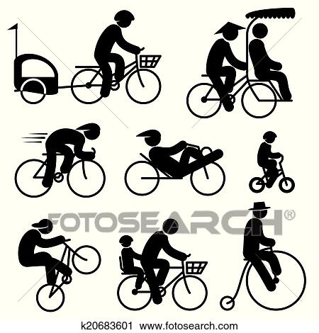 People Cyclist Clipart K20683601