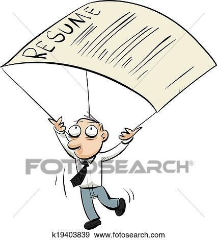 clip art of resume parachute k19403839 search clipart rh fotosearch com