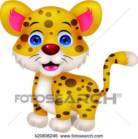 Rigolote Leopard Dessin Anime Clipart K20836246 Fotosearch