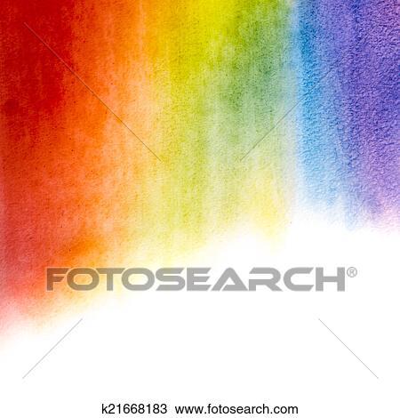 Stock Foto - aquarell, regenbogen, hintergrund k21668183 - Suche ...