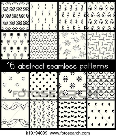 Clip Art Black And White Simple Patterns Fotosearch Search Clipart Ilration Posters