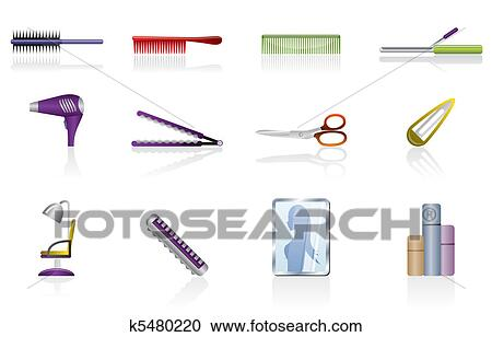 Hairdressing Coiffure And Make Up Clipart K5480220 Fotosearch