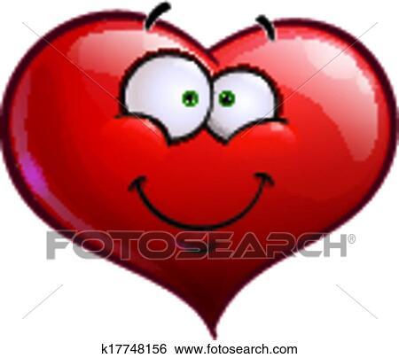 Heart Faces Happy Emoticons - Smiling Clip Art | k17748156 ...