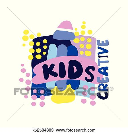 Kids Creative Logo Labels And Badges For Kids Club Center