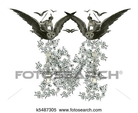 Stock Illustration Of Letter M K5487305 Search Clipart Drawings