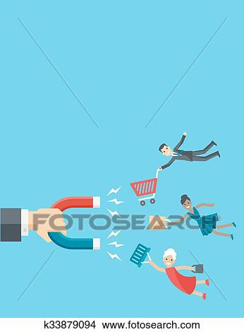 Man Rushing To Shopping. Customer With An Empty Shopping Trolley.. Royalty  Free Cliparts, Vectors, And Stock Illustration. Image 67915899.