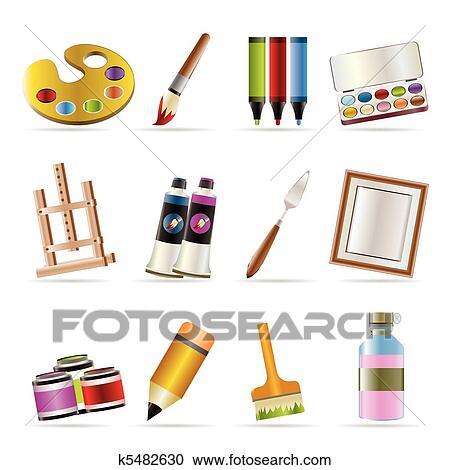 Fonkelnieuw Schilder, tekening, en, schilderij, iconen Clipart | k5482630 PV-15