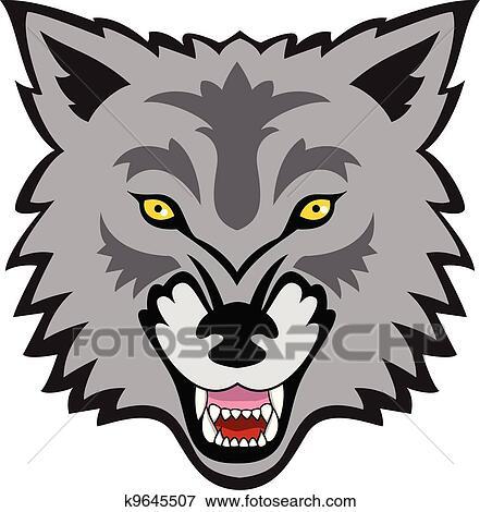 Clip Art Wolf Gesicht K9645507 Suche Clipart Poster