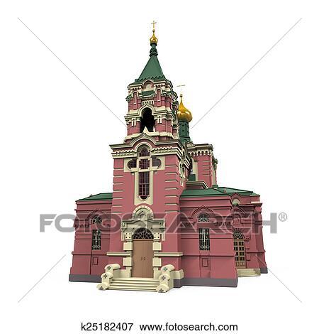 ロシア人 教会 イラスト K25182407