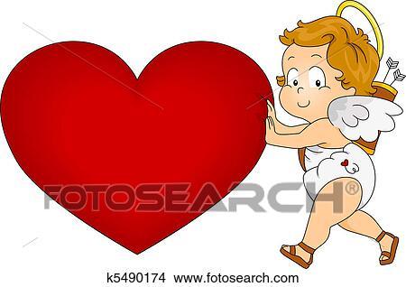 Baby cupid drawing