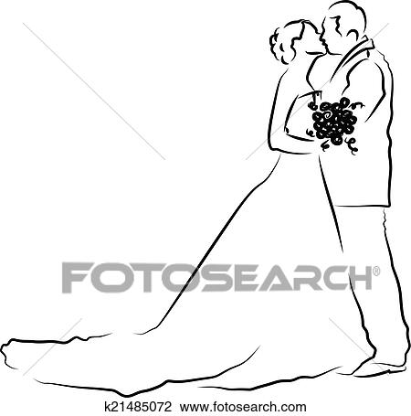 clipart of bride and groom silhouette k21485072 search clip art rh fotosearch com clipart bride and groom silhouette bride and groom clipart vector