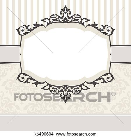 Clipart of decorative vintage frame k5490604 - Search Clip Art ...
