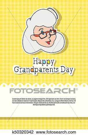 Clipart of happy grandparents day greeting card banner k50320342 clipart happy grandparents day greeting card banner fotosearch search clip art illustration m4hsunfo