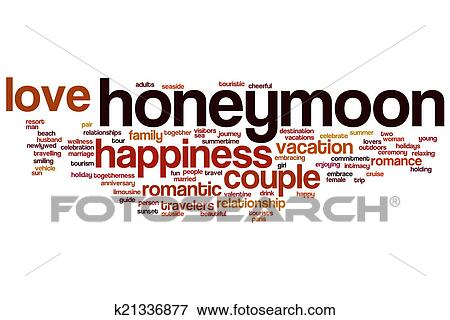 Honeymoon Concept Word Cloud Background