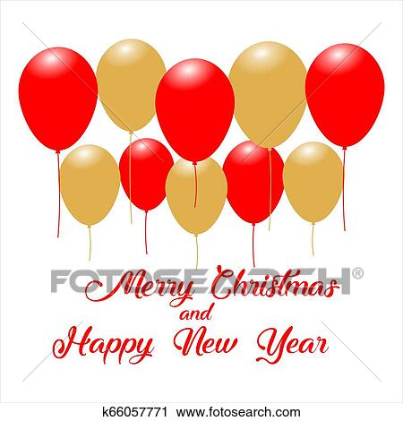 Merry Christmas And Happy New Year Message Design Background