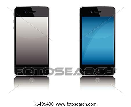 Moderne Telephone Portable Clipart K5495400 Fotosearch