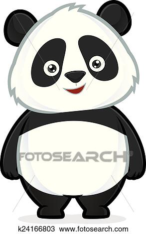 Panda Standing Clipart K24166803 Fotosearch
