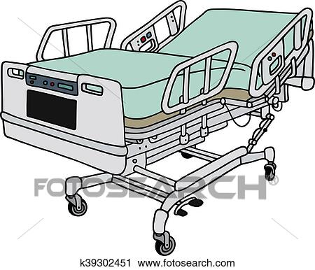 Charmant Clipart   Position Hospital Bed. Fotosearch