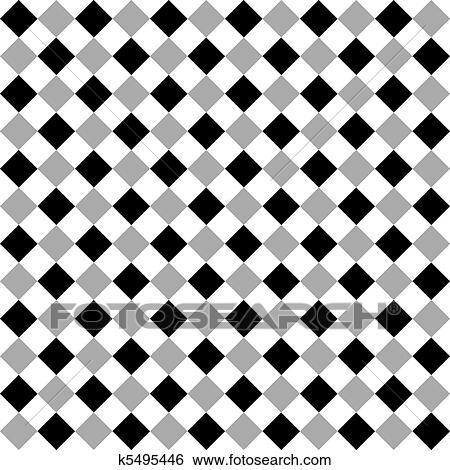 Seamless Black White And Gray Diamond Background Clip Art K5495446 Fotosearch
