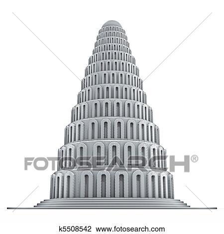 Babylon Torre Desenho K5508542 Fotosearch