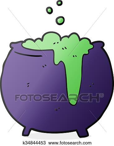 Cartone animato calderone clipart k34844453 fotosearch
