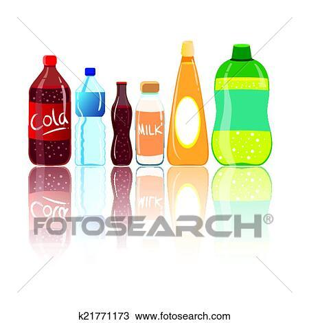 Water bottles Clipart | k2670371 | Fotosearch