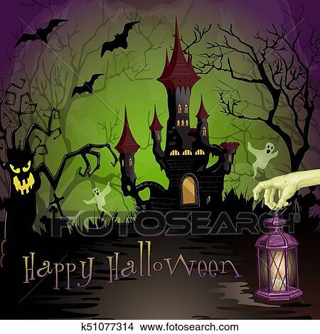 Spooky Castle Clip Art