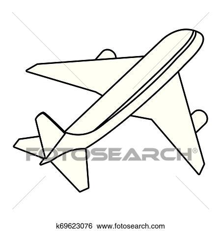 Isolado Aviao Desenho Clipart K69623076 Fotosearch