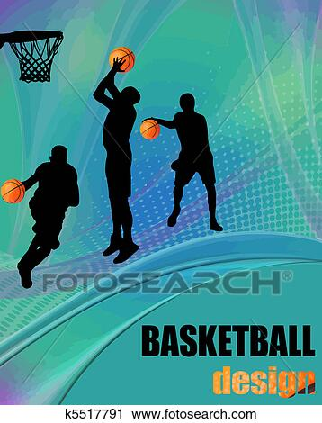 Clipart Of Basketball Design Poster K5517791 Search Clip Art