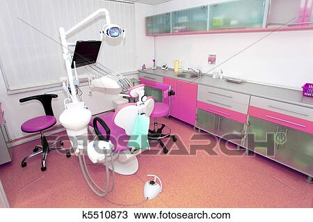 Stock Photo Of Dental Clinic Interior Design With Chair And Tools