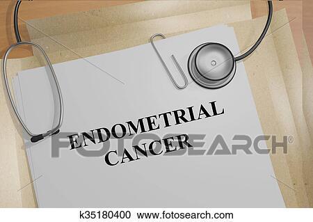 Endometrial, kanker, concept Stock Afbeelding | k35180400 ...