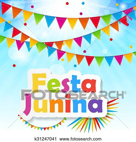 Festa Junina Hintergrund Vektor Abbildung Clipart