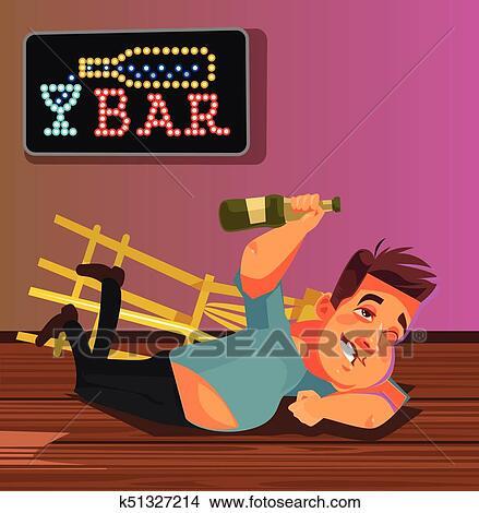 Drunk Man Cartoon