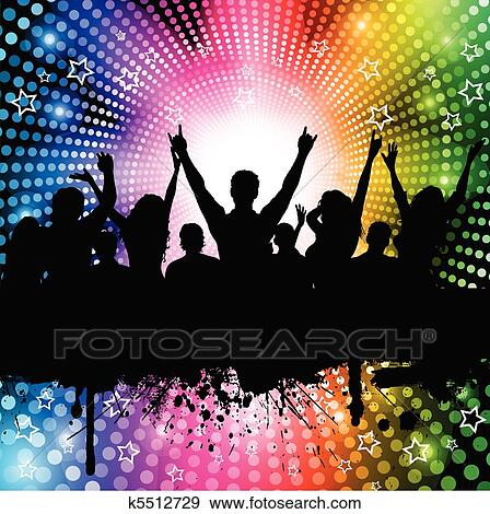 clip art of party background k5512729 search clipart illustration