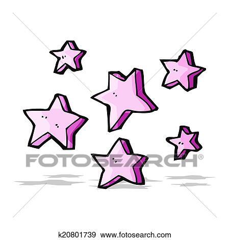 رسم كاريكتوري النجوم Clip Art K20801739 Fotosearch