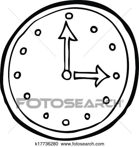 clipart dessin anim horloge symbole k17736280 recherchez des clip arts des illustrations. Black Bedroom Furniture Sets. Home Design Ideas